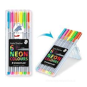 Confezione 6 penne ergonomiche Triplus Color 323