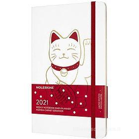 Moleskine 12 mesi - Agenda settimanale Limited Edition Maneki Neko - Large copertina rigida 2021