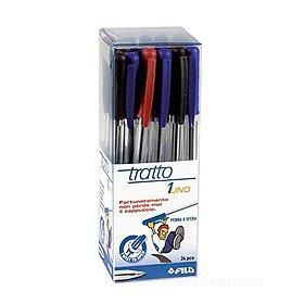 Confezione 24 penne Tratto 1Uno colori assortiti