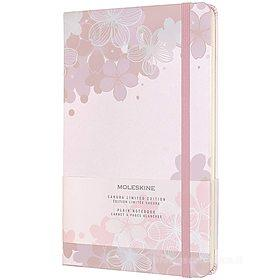 Moleskine - Taccuino pagine bianche Sakura - Large copertina rigida