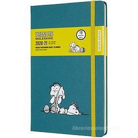 Moleskine 18 mesi - Agenda settimanale Limited Edition Peanuts verde - Large copertina rigida 2020-2021