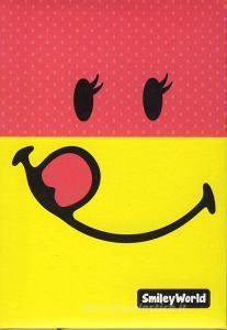Diario Smiley World non datato 12 mesi. Rosa e giallo
