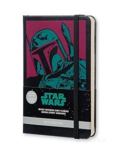 Moleskine 18 mesi - Agenda settimanale notebook Star Wars - Pocket - Copertina rigida 2015 - 2016