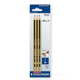 Confezione 3 matite con gommino Noris HB