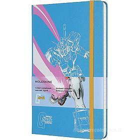 Moleskine - Taccuino a righe Gundam azzurro - Large copertina rigida