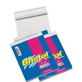 Confezione 4 block-notes A6 quadri Bristol
