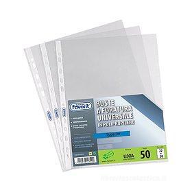 Confezione 50 buste trasparenti Air a foratura universale A4 finitura liscia