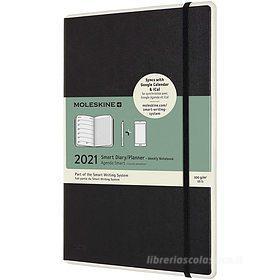 Moleskine 12 mesi - Agenda Smart Planner settimanale nero - Large copertina rigida 2021