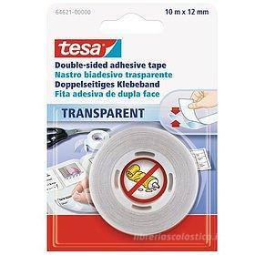 Nastro biadesivo trasparente Tesa