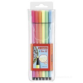 Confezione 6 pennarelli colori fluo Pen 68 Neon