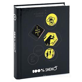 Smemoranda 2019. Diario Smemo 16 mesi medium Special Edition Cartoline. Nero