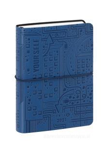Comix U Yourself Mini Agenda 2020-2021 giornaliera 16 mesi. Special Edition. Blu
