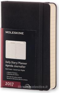 Moleskine 2017 12 mesi - Agenda giornaliera nera - Pocket Copertina rigida