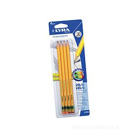 Confezione 4 matite Temagraph 2B HB