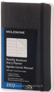 Moleskine 12 mesi - Agenda mensile nera - Pocket Copertina morbida 2017