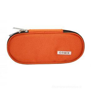 Astuccio ovale organizzato monocolore Comix. Arancione