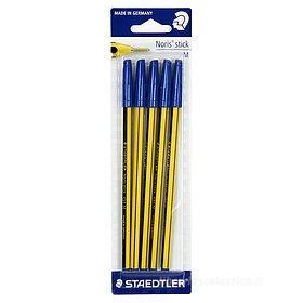 Confezione 5 penne a sfera Noris Stick 434