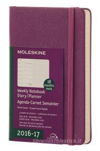 Moleskine 18 mesi - Agenda settimanale viola - Pocket Copertina rigida 2016-2017