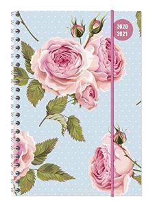 Diario agenda 16 mesi spiralata settimanale 2020-2021 Collegetimer A5 Roses