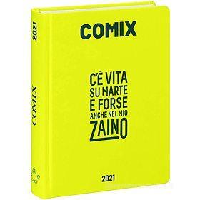Comix 2020-2021. Diario agenda 16 mesi standard. Giallo neon