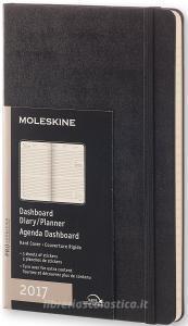 Moleskine 12 mesi - Agenda settimanale professional dashboard vertical nera – Large Copertina rigida 2017