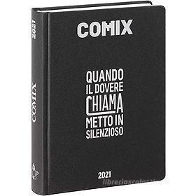 Comix 2020-2021. Agenda 16 mesi mini. Nero e argento