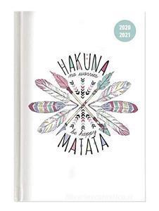 Diario agenda 12 mesi giornaliera 2020-2021 Collegetimer A6 day by day Hakuna Matata