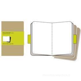 Moleskine. Quaderni a pagine bianche - set da 3 pezzi kraft