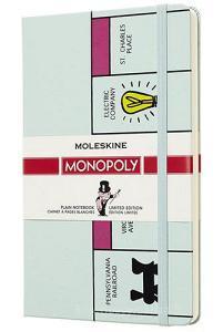 Moleskine taccuino con copertina rigida a pagine bianche large. Tabellone Monopoly. Limited edition.