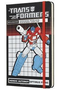 Moleskine taccuino con copertina rigida a righe large. Transformers Optimus Prime. Limited edition.