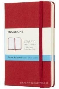 Moleskine taccuino con copertina rigida a puntini pocket rosso