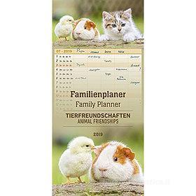 Calendario 2019 Family Planner Animal Friendships 21x45 cm