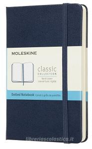 Moleskine taccuino con copertina rigida a puntini pocket blu