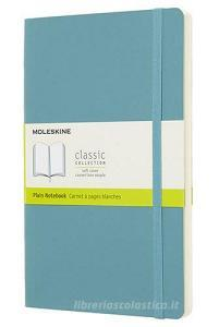 Moleskine taccuino con copertina morbida a pagine bianche large blu reef