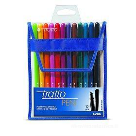 Confezione 12 penne Tratto Pen colorate
