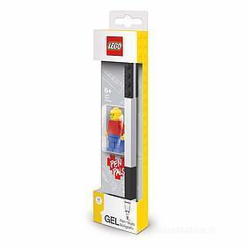 LEGO penna a gel nera con minifigure