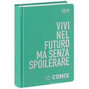 Agenda Comix 2018-2019. Diario 16 mesi mini. Verde acqua