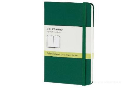 Moleskine taccuino pocket pagine bianche copertina rigida verde