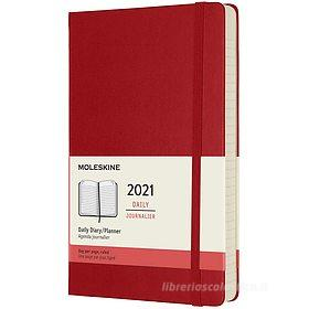 Moleskine 12 mesi - Agenda giornaliera rosso scarlatto - Large copertina rigida 2021