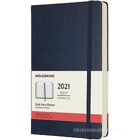 Moleskine 12 mesi - Agenda giornaliera blu zaffiro - Large copertina rigida 2021