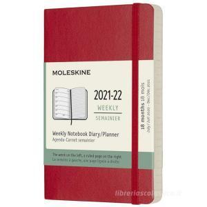 Moleskine 18 mesi - Agenda settimanale rosso scarlatto - Pocket copertina morbida 2021-2022