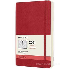 Moleskine 12 mesi - Agenda giornaliera rosso scarlatto - Large copertina morbida 2021