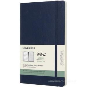 Moleskine 18 mesi - Agenda settimanale blu zaffiro - Large copertina morbida 2021-2022