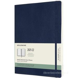 Moleskine 18 mesi - Agenda settimanale blu zaffiro - Extra Large copertina morbida 2021-2022