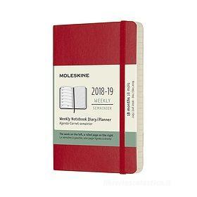 Moleskine 18 mesi - Agenda settimanale rossa - Pocket copertina morbida 2018-2019
