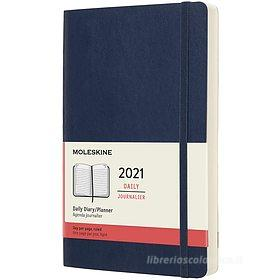 Moleskine 12 mesi - Agenda giornaliera blu zaffiro - Large copertina morbida 2021