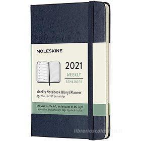 Moleskine 12 mesi - Agenda settimanale blu zaffiro - Pocket copertina rigida 2021
