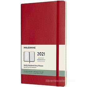 Moleskine 12 mesi - Agenda settimanale rosso scarlatto - Large copertina morbida 2021