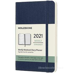 Moleskine 12 mesi - Agenda settimanale blu zaffiro - Pocket copertina morbida 2021