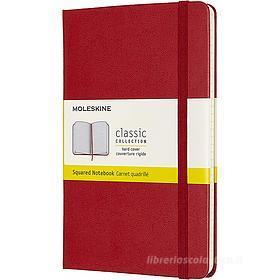 Moleskine - Taccuino Classic a quadri rosso - Medium copertina rigida